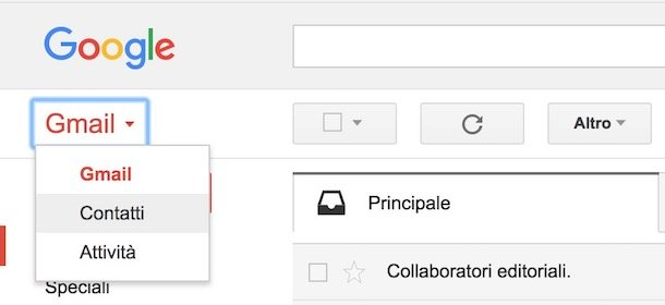mail gruppo gmail